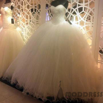 Bling Bling Sequins Beaded Sweetheart Ball Gowns Wedding Dresses Long Prom Dresses,HS724