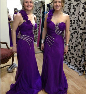 purple Bridesmaid Dresses, Wedding Party Dresses, one shoulder bridesmaid dress, cheap bridesmaid dress, long bridesmaid dress, BD2001