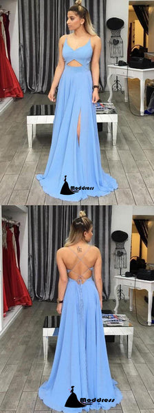 Cheap Prom Dresses Spaghetti Straps Sexy Lace-up Floor-length Evening Dress,HS317