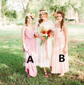 Country Bridesmaid Dresses Simple Long Bridesmaid Dresses Chiffon Long Bridesmaid Dresses,HS942
