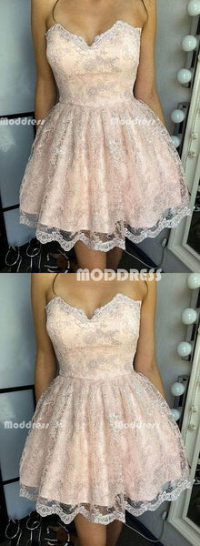 Cute Lace Short Homecoming Dresses Sweetheart Prom Dresses Knee Length Evening Formal Dresses,HS838