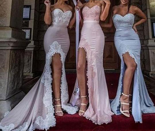 Elegant Bridesmaid Dress,Sexy Bridesmaid Dress,Fashion Bridesmaid Dress,Mermaid Bridesmaid Dress,Split Cheap Bridesmaid Dress