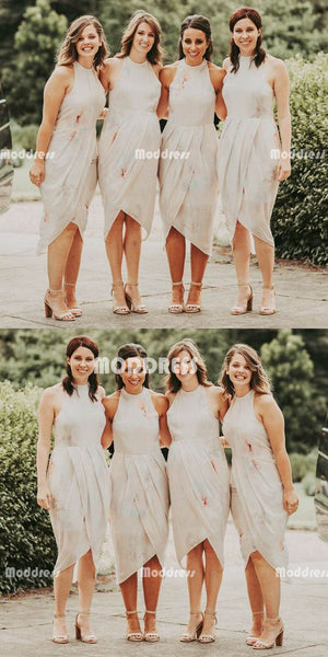 Elegant Short Bridesmaid Dresses Sleeveless Bridesmaid Dresses,HS950