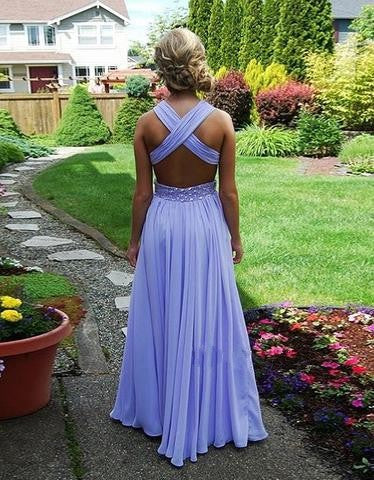 Exquisite Beaded A-line Straps Cross-back Floor Length Prom Dress/Wedding Party Dress evening dress cocktail dress,HS066