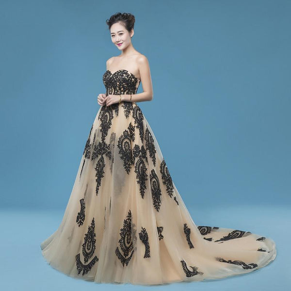 A-line long sweetheart prom dress, charming party dress, PD864