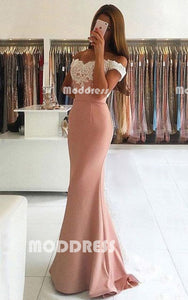 Lace Long Prom Dresses Mermaid Evening Dresses Off the Shoulder Formal Gowns