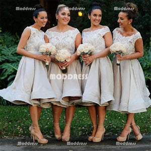 Lace Short Bridesmaid Dresses Knee Length Bridesmaid Dresses