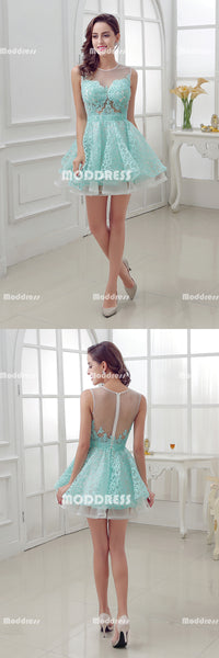 Lace Short Homecoming Dresses Pearls Applique Short Homecoming Dresses