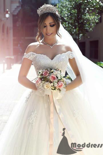 f8284f68661 ... Lace Wedding Dresses Sweetheart Bridal Dress Off Shoulder Tulle Ball  Gowns 2018