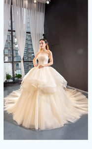 Ball Gown Sleeveless Square Tulle Prom Dresses Evening Dresses,MD202066
