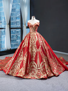 Ball Gown V Neck Cape Sleeves Applique Organza Sweep Train Prom Dresses Evening Dresses,MD202016