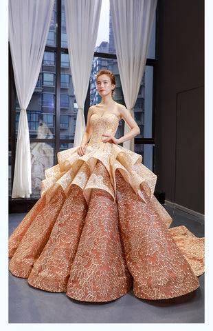 Ball Gown Sleeveless Sweetheart Lace Tulle Prom Dresses Evening Dresses,MD202075