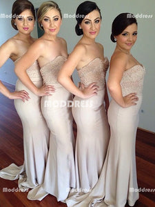 Pearls Long Bridesmaid Dresses Sweetheart Bridesmaid Dresses Mermaid Bridesmaid Dresses