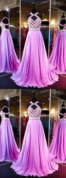 Pretty Fashion Prom Dresses,Backless Evening Party Gowns