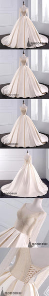 Sequins Wedding Dresses Beaded V Neck Ball Gowns,HS647