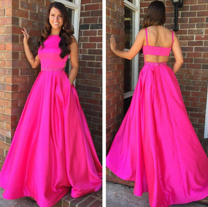 Sexy Long Prom Dresses Sleeveless A-Line Evening Formal Dresses