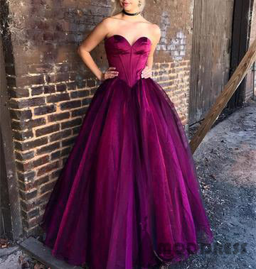 Sexy Sweetheart Bodice Corset Floor Length Ball Gowns Prom Dresses,HS732