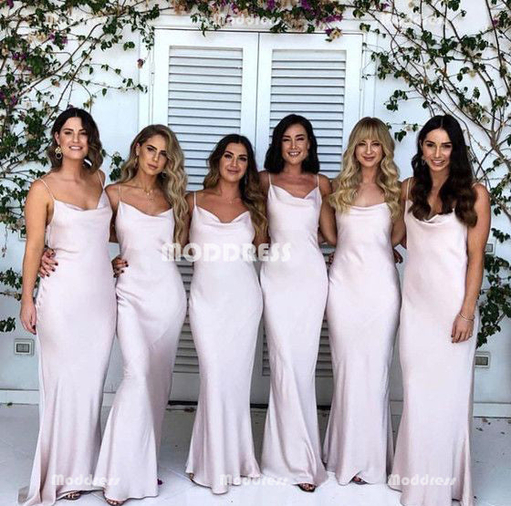 Simple Long Bridesmaid Dresses Mermaid Bridesmaid Dresses Spaghetti Straps Bridesmaid Dresses