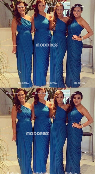 Simple Long Bridesmaid Dresses One Shoulder Bridesmaid Dresses