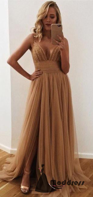 High Slit Formal Dress