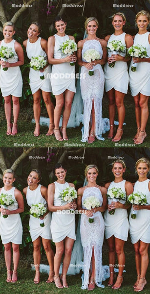 Simple Short Bridesmaid Dresses Chiffon Bridesmaid Dresses
