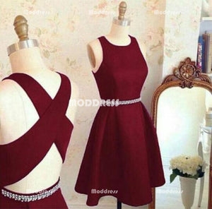 Simple Short Homecoming Dresses Red Short Homecoming Dresses Cross Back Short Homecoming Dresses