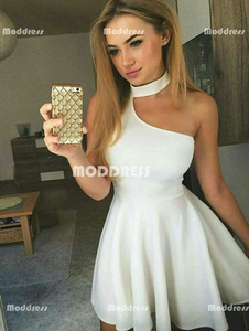 Simple Short Homecoming Dresses White Short Homecoming Dresses