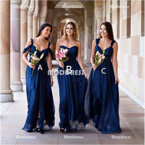 Stylish Long Bridesmaid Dresses A-Line Bridesmaid Dresses
