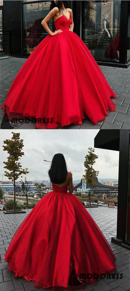 Sweetheart Wedding Dresses Bodice Corset Red Tulle Sleeveless Ball Gowns,HS648