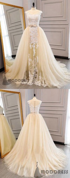 Unique Applique Long Prom Dresses Ball Gowns Evening Dresses Scoop Formal Dresses,HS684