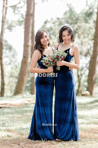 V-Neck Long Bridesmaid Dresses Mermaid Bridesmaid Dresses Spaghetti Straps Bridesmaid Dresses