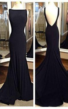 black prom dress, formal prom dress, mermaid prom gown,cheap evening dress, BD152