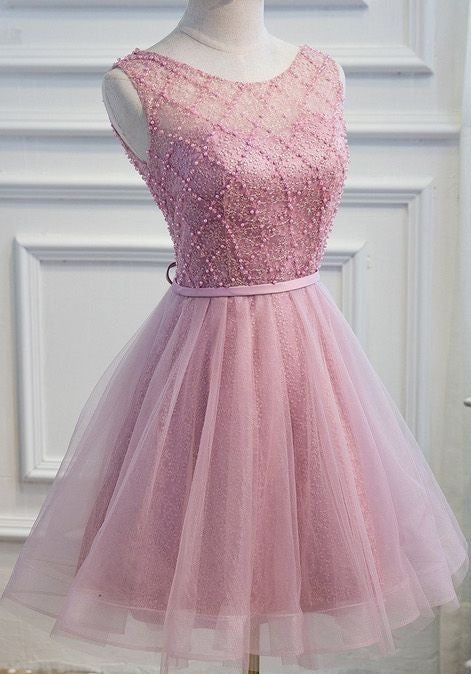 cute lace short homecoming dress sleeveless short prom dress,HS266