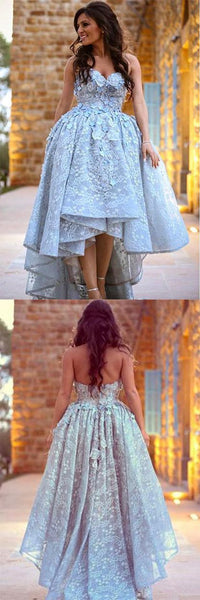 high-low wedding dress sweetheart lace ball bridal gowns prom dress,HS267