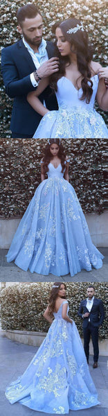 off the shoulder prom dress applique ball gown evening dress,HS055