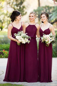 mismatched chiffon long Bridesmaid Dresses, PD5602
