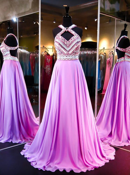 Pretty Fashion Prom Dresses,Backless Evening Party Gown