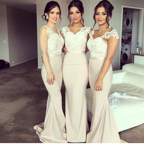 elegant mermaid lace top cheap long Bridesmaid Dresses,BD7804