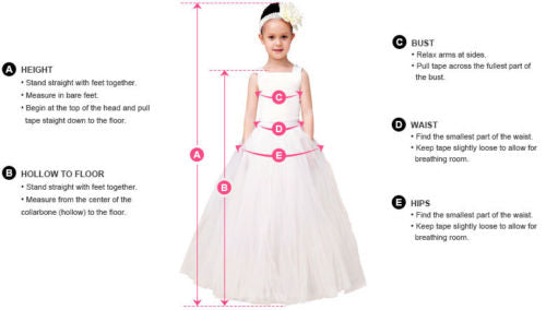 Lace Flower Girl Dresses Princess Pageant Dresses Kids' Wedding Bridesmaid Dresses Birthday Gowns with Bowknot,,HT045