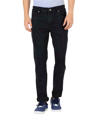 JDC Men's Lightweight Stretch 3D Slim fit Jeans-Black