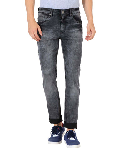 JDC Men's Lightweight Stretch 3D Slim fit Jeans-Grey