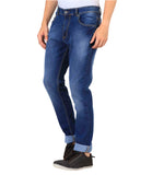 JDC Men's Lightweight Stretch 3D Slim fit Jeans-Light Blue