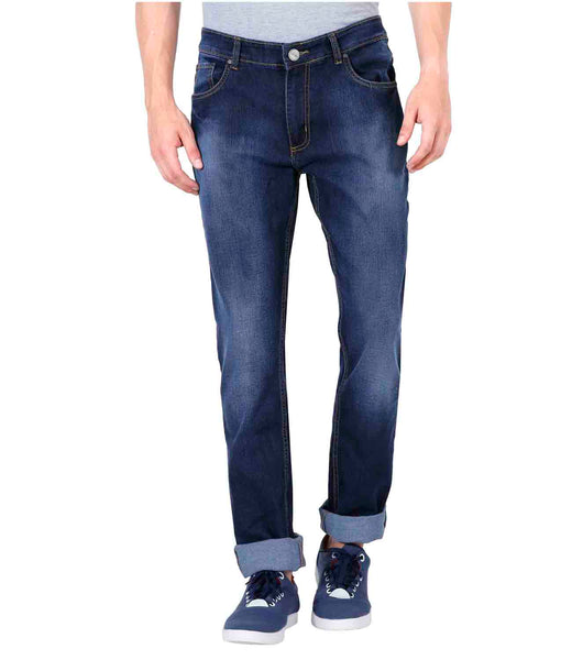 JDC Men's Lightweight Stretch 3D Slim fit Jeans-Dark Blue
