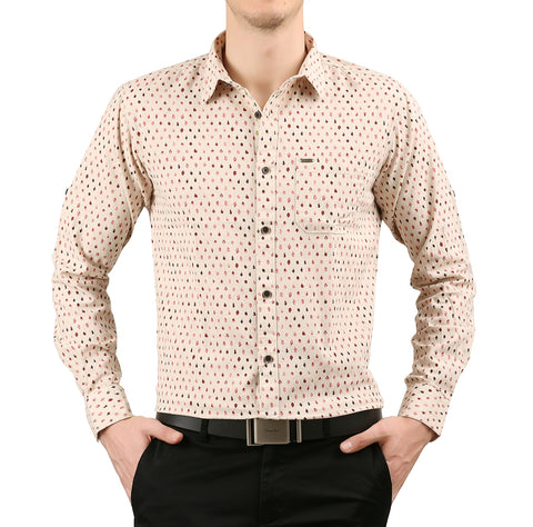 JDC Mens Cotton Linen Slim Fit Long Sleeve Button Down Shirt
