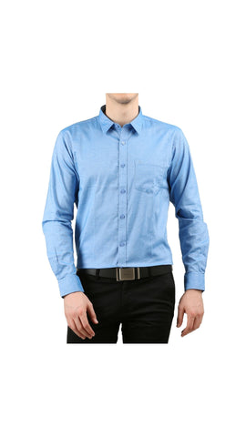 JDC Mens 100% Cotton Formal Slim Fit Long Sleeve Button Down  Shirt