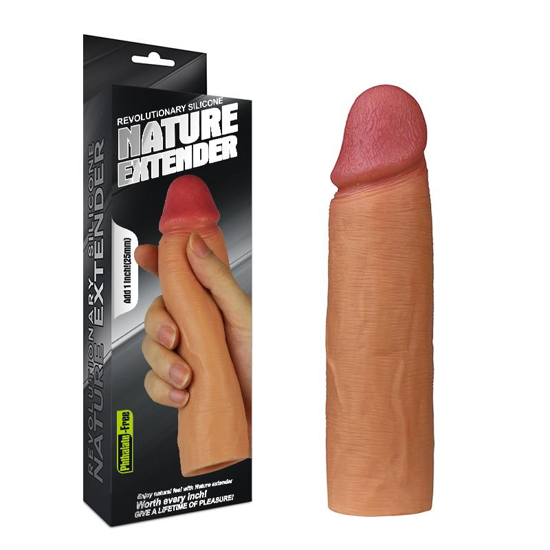 6.8 Inch Realistic Penis Extension Sleeve