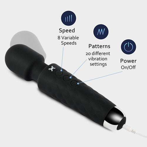 8 Speeds 20 Frequency vibrating AV Magic Wand Massager