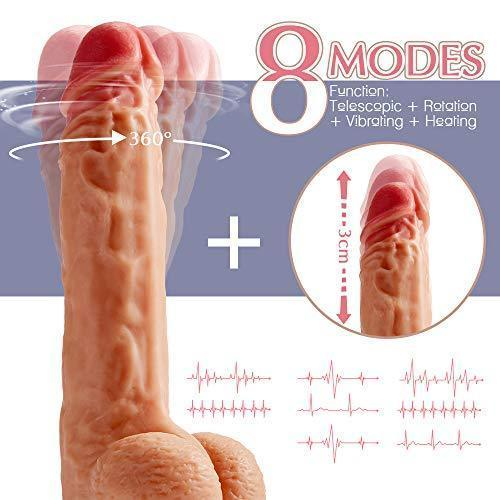 8 Mode Vibrating Dildo with Thrusting & Heating Functions Remote Control Sex Toys