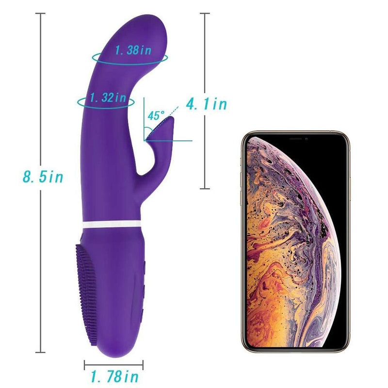Dual 7 Powerful Variations Powerful Sucker G-Spot Clitoral Vibrator