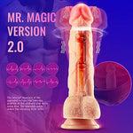 Thrusting Dildo Vibrator with Rotation and Heating Sex Toys